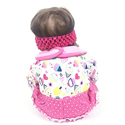 Tatu Reborn Baby Girl Doll 4 Pieces Accessories Set 20-22 Inches Newborn Baby Girl Clothes: Toys & Games