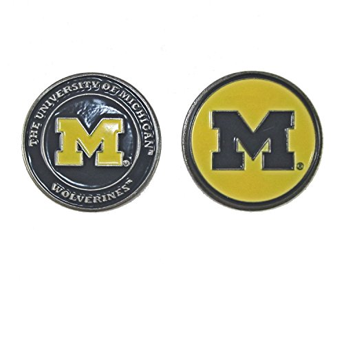 Michigan Wolverines NCAA Double-Sided Golf Ball Marker