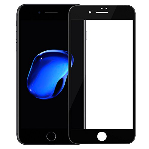 Nillkin iPhone 7 Plus screen protector tempered glass full coverage, 3D Rounded Edge 0.23mm Ultra Thin High Clarity Highly Responsive 9H Hardness Anti Scratch - Black