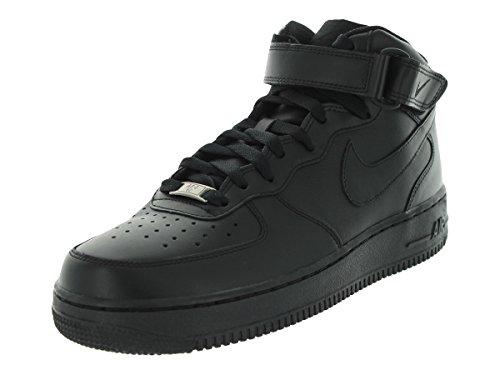 Nike Mens Air Force 1 Mid 07 Basketball Shoes Black/Black...