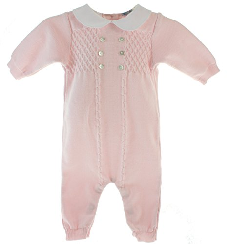 47e3e8b2f1 Feltman Brothers Baby Girls Pink Knitted Long Sleeve Sleeper