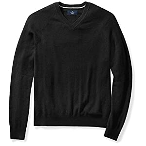Buttoned Down Men's Cashmere V-Neck Sweater