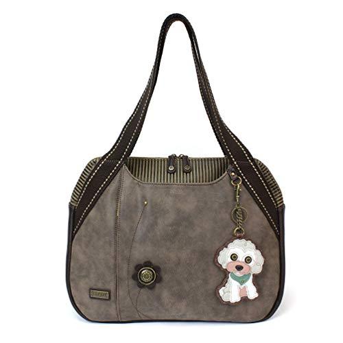 Chala Handbag Shoulder Purse Tote Bag with Poodle Charm]()