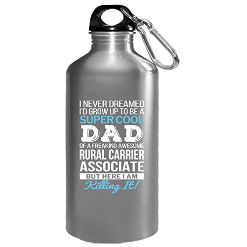 Super Cool Dad Of Awesome Rural Carrier Associate Dad Gift - Water Bottle