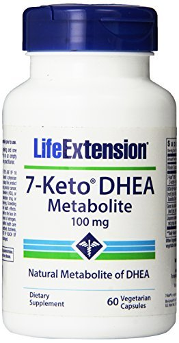 Life Extension 7-Keto Dhea 100 Mg Vegetarian Capsules, 60 Count (Pack of 3) by Life Extension