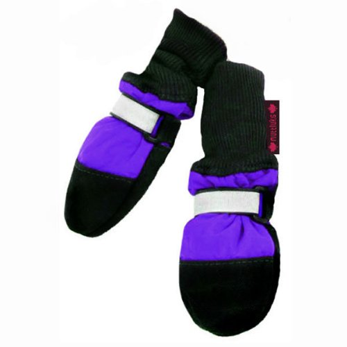 Muttluks Fleece Lined 4.25-Inch to 4.75-Inch Dog Boots, X-Large(4.25-4.75-In), Purple, Set of 4 by Muttluks