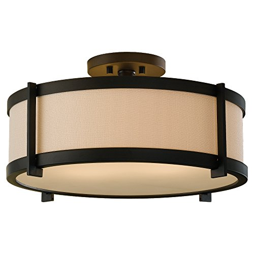 Feiss SF272ORB Stelle 2- Light Indoor Semi-Flush Mount in Oil Rubbed Bronze