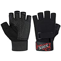 Trideer Workout Gloves, Full Palm Protection & Extra Grip,Rowing Gloves, Gym Gloves Weight Lifting, Training, Fitness, Exercise (Men & Women)