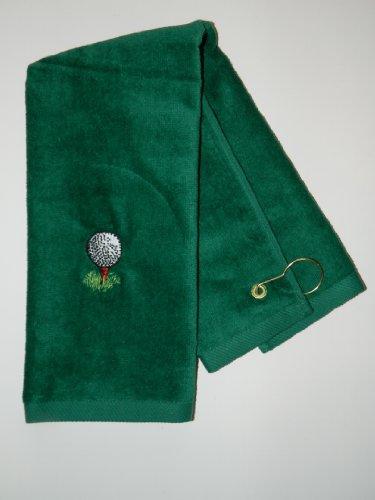 Deluxe Woven Golf Towel - Personalized Golf Design Towel corner grommet with hook