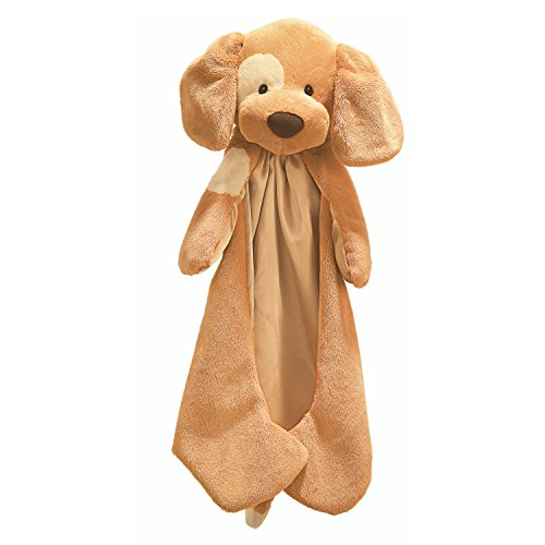 Infant Blankets Dog (Baby GUND Spunky Huggybuddy Stuffed Animal Plush Blanket, Beige, 15