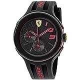 Automotive : Ferrari Men's 830223 FXX Red-Accented Black Watch