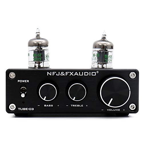 FX Audio TUBE-03 JAN 5654W HiFi Treble Bass Buffer Tube Preamplifier (Tube-03S-BK)