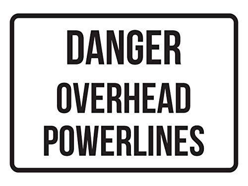 Fhdang Decor Danger Overhead Powerlines No Parking Business Safety Traffic Signs Black,Metal Sign 8