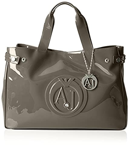 Armani Jeans Patent Crystal East West Tote,