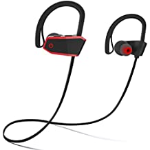 Sbode Bluetooth Headphones, Siri Activated Wireless Sports Earphones w/ Mic IPX7 Waterproof HD Stereo Sweatproof Earbuds for Gym Running Workout 8 Hour Battery Noise Cancelling Headsets