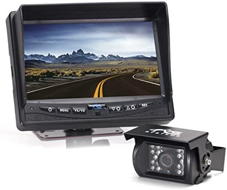 Rear View Safety Backup Camera System with 7 Display Black RVS-770613