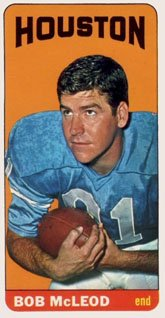 1965 Topps Regular (Football) Card# 82 Bob McLeod of the Houston Oilers VG Condition