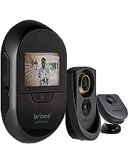 "Brinno SHC500K - with Knocking Sensor- Theft Proof- Easy Install- Clear Image- Wire Free- Digital Visitor Log- Smart Home Peephole Camera, 2.7"", Black"