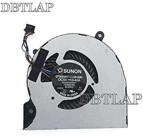 DBTLAP Nuevo Portátil CPU Ventilador para HP EliteBook Folio 9470 9470M EF50050V1-C100-S9A 702859-001 6033B0030901 Series Ventilador: Amazon.es: Electrónica