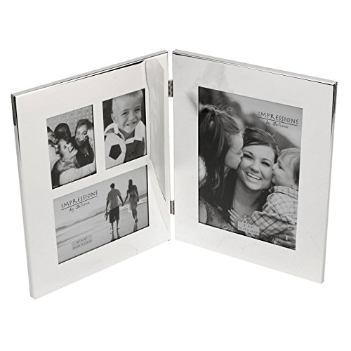 """Personalised 6""""x8"""" Hinged Collage Silver Plated Photo Frame by Juliana"""