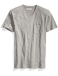 Men's Short-Sleeve V-Neck Slub Pocket T-Shirt