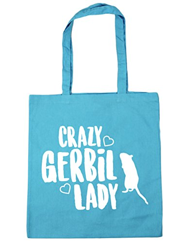Bag gerbil litres Shopping Beach Gym 42cm Surf Crazy Tote HippoWarehouse lady x38cm 10 Blue 0q5PF