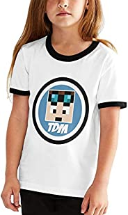 colory Dantdm Dan TDM Logo Teenager Junior Boys Girl's Youth Short Sleeve T Shirt Tee Cont