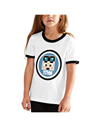 colory Dantdm Dan TDM Logo Teenager Junior Boys Girl's Youth Short Sleeve T Shirt Tee Contrast