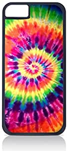 Super Bright Tie-Dye- Case for the Apple Iphone 5-5s Universal-Hard Plastic Outer Shell with Inner Soft Rubber Lining-(NOT 5C)