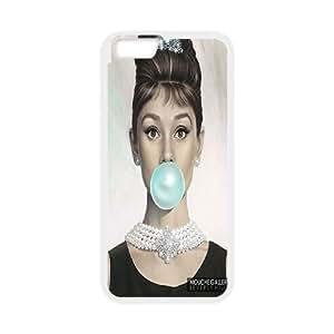 "Hjqi - Customized Audrey Hepburn Phone Case, Audrey Hepburn DIY Case for iPhone6 4.7"""