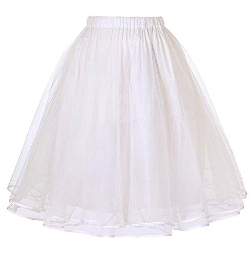 JS Fashion Vintage Dress Belle Poque Womens Fancy Petticoat Underskirt as Gifts Ivory L