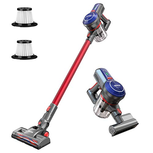 BEAUDENS B6 Cordless Stick Vacuum Cleaner, 16Kpa Powerful Suction, 160W Digital Motor, 5 in 1 Lightweight Rechargeable Handheld Vacuum for Home Hard Floor Carpet Bed (Best Vacuum For Long Carpet)