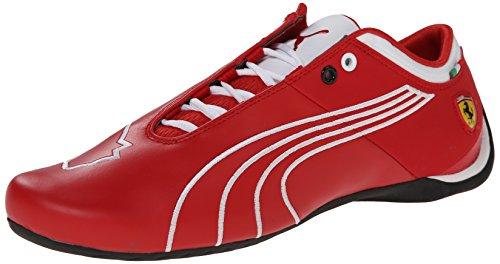 PUMA Men's Future Cat M1 Ferrari Tifosi Lace-Up Fashion Sneaker, Rosso Corsa/White, 10 M US (Casual Future Puma Cat)