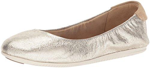 Cole Haan Studiogrand Convertible Ballet Flat,Platino Glitter Metallic Leather,6.5 B US (Ballet Metallic Flats Leather)