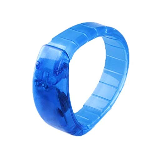 New Tech Junkies NTJ Bracelet LED Flashing W/Sound & Motion On/Off 2 1/8