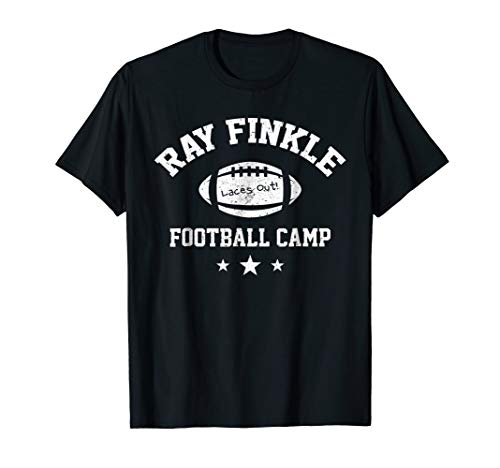 Mens Ray Finkle Football Camp Shirt Funny Football Laces Out Tee 2XL Black -