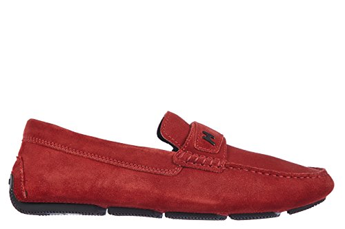 Hogan Wildleder Mokassins Herren Slipper wrap 185 travers Rot