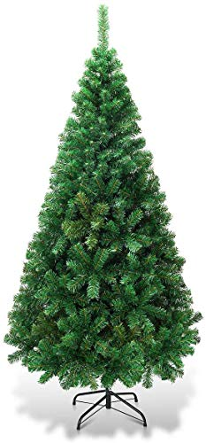 MNV Artificial Christmas Tree Xmas Tree with Solid Metal Legs Perfect for Indoor and Outdoor Holiday Decoration (Green, 5 FT)