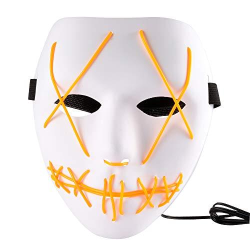 XCSOURCE Halloween Mask LED Light Pp Purge Mask
