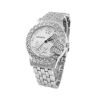 Amazon.com: Silver Geneva Stainless Steel Rhinestone Crystal ...