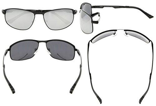 Eyekepper Lunettes de soleil Metal monture verres en Polycarbonate verres Polarisees  lunettes soleil pour hommes femmes ... 96929d18a636