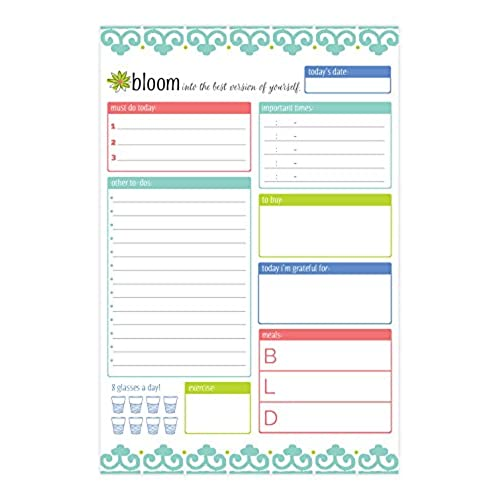 bloom daily planners planning system tear off to do pad teal daily planner to do pad 6 x 9