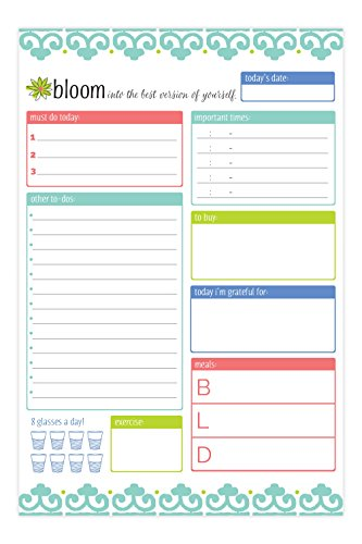 bloom daily planners Planning System Tear Off To Do Pad - Teal Daily Planner To Do Pad 6