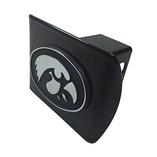 Iowa Hawkeyes Trailer Hitch (University of Iowa Hawkeyes METAL Black Hitch Cover)