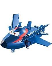 Auldeytoys EU720023 Super Wings Agent Chase a-Bot spelfigur Transformer Mini, blå