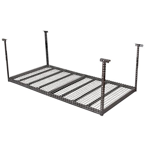 Goplus Overhead Garage Storage Rack Heavy Duty Adjustable Ceiling Storage Rack (4'x8')