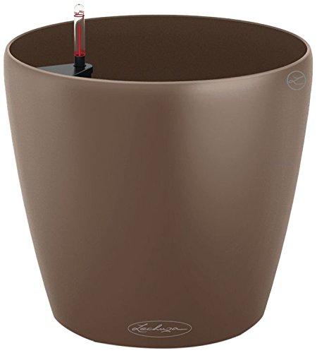 Lechuza Classico Color 28 Planter, Nutmeg Matte