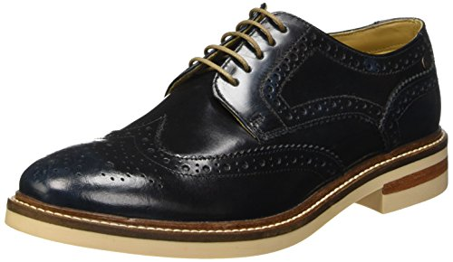 Base London Apsley - Zapatos Hombre Azul - Bleu (Washed Blue)
