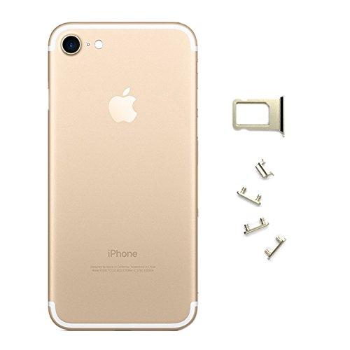 iPhone 7 Carcasa Tapa Trasera Chasis Dorado + Botones + Bandeja Portasim