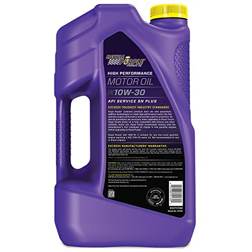Royal Purple 51130 API-Licensed SAE 10W-30 High Performance Synthetic Motor Oil - 5 qt, Model:ROY51130